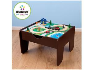 KidKraft 2 in 1 Activity Table with Board - Espresso