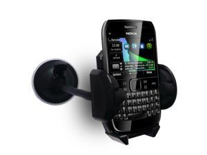 "Kit Me Out USA 7"" Windscreen Car Mount Suction Holder for Nokia E600 - Black"