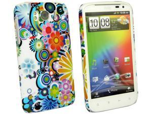Kit Me Out USA Plastic Clip-on Case for HTC Sensation XL - Circles And Flowers