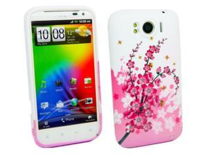 Kit Me Out USA TPU Gel Case for HTC Sensation XL - Blossom Pink