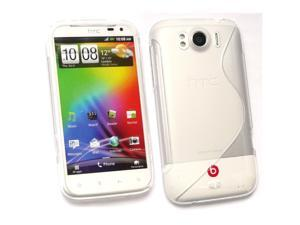 Kit Me Out USA TPU Gel Case for HTC Sensation XL - Clear S Wave Pattern