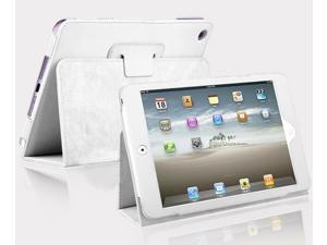 Kit Me Out US PU Leather Book Case + LCD Screen Protector for Apple iPad Mini / Mini 2 ( All Versions ) Tablet - White Luxury ...