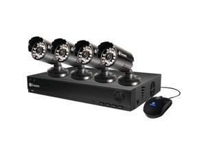 Swann SWDVK-810004-US 8 CH D1 DVR With 4 x 600 TVL Cameras Black