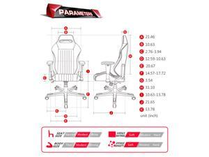 DXRacer OH/DE03/N Ergonomics Office Chair PC Gaming Chair Automotive Seat with Lumbar Cushion