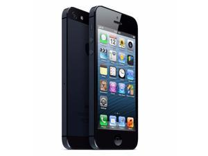 "Apple iPhone 5 4"" Cell Phone 16GB 8MP Unlocked Smart Phone iOS - Black REFURB"