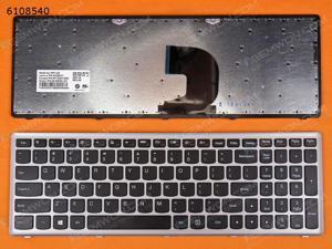US Keyboard for LENOVO Z500 SILVER FRAME BLACK(Win8)