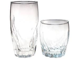 Anchor Hocking 16-Piece Central Park Drinkware Set, Clear