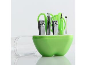 9pcs in 1 Apple Shape Made Of Plastic And Stainless Steel Nail Clipper Set