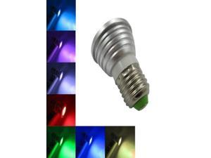 Energy saving 3W E27 RGB LED Bulb Lamp light 16 Color changing + IR Remote