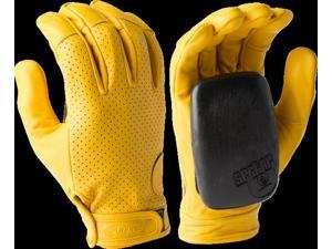 SECTOR 9 DRIVER SLIDE GLOVES S M-YELLOW