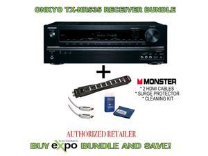 Onkyo TX-NR535 5.2-Channel Receiver, and Monster Power cable, HDMI and Screen Clean Bundle