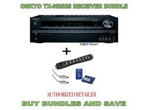 Onkyo TX-NR525 5.2-Channel  A/V Receiver Plus Monster Surge Protector HDMI Bundle