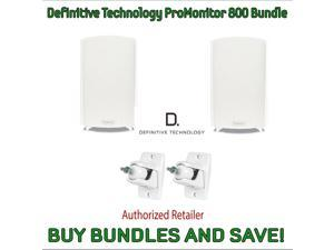 Definitive Technology ProMonitor 800 Bookshelf Speakers (Pair White) & Definitive Technology Pro-Mount 90 - Pair (White)
