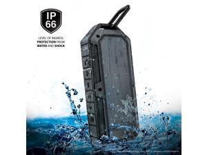 [IPX6] [Waterproof Shockproof Dustproof] Rugged Water Resistant Outdoor Bluetooth Speaker