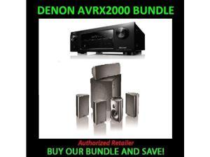 Denon AVR-X2000 7.1-Channel 4K Receiver with AirPlay and Definitive Technology ProCinema 600 5.1 Speaker System
