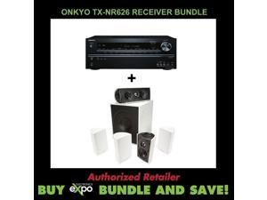 Onkyo TX-NR626 7.2-Channel Receiver  Definitive Technology ProCinema 600 White