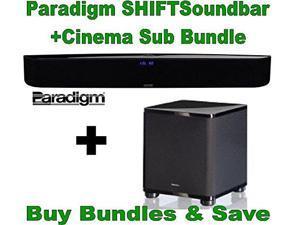 Paradigm SHIFT Series Soundscape Full Powered Soundbar with apt-X Bluetooth + Paradigm Cinema Sub