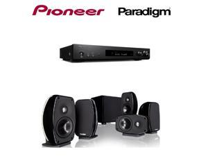 Pioneer Slim Audio & Video Component Receiver,Black (VSX-S520) + Paradigm Cinema 100 CT 5.1 Home Theater System Bundle