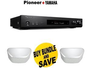 (1 Pair) Pioneer Slim Audio & Video Component Receiver,Black (VSX-S520) + 2 Pairs of  Yamaha MusicCast WX-030 Wireless Speaker (White) Bundle