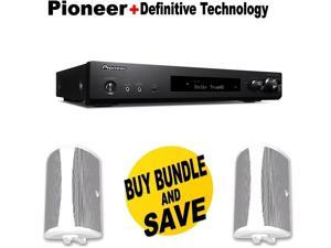 Pioneer Slim Audio & Video Component Receiver,Black (VSX-S520) + Pair of  Definitive Technology AW 6500W Outdoor Speaker (Single, White) Bundle