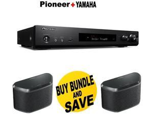 Pioneer Slim Audio & Video Component Receiver,Black (VSX-S520) + Pair of  Yamaha MusicCast WX-030 Wireless Speaker (Black) Bundle