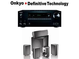 Onkyo THX-Certified Audio & Video Component Receiver black (TX-NR777) + Definitive Technology ProCinema 600 5.1 Home Theater Speaker System Bundle