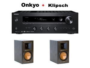 Onkyo Network Stereo Audio Component Receiver, (TX-8140) + Klipsch RB-51 II Reference Series Bookshelf Loudspeakers Bundle