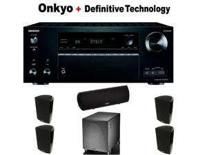 Onkyo THX-Certified Component Receiver (TX-NR777) + 2 Pairs of  ProMonitor 1000 Bookshelf Speaker + Definitive Technology ProCenter 1000 Center Speaker + Definitive Technology ProSub 1000 Bundle