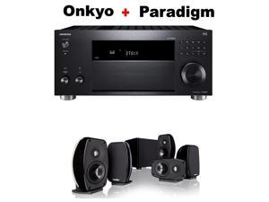 Onkyo Rz Series Audio & Video Component Receiver Black (TX-RZ820) + Paradigm Cinema 100 CT 5.1 Home Theater System Bundle