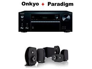 Onkyo Versatile Audio & Video Component Receiver Black (TX-NR575) + Paradigm Cinema 100 CT 5.1 Home Theater System Bundle