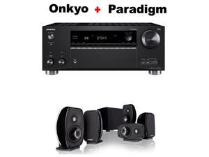 Onkyo Rz Series Audio & Video Component Receiver Black (TX-RZ720) + Paradigm Cinema 100 CT 5.1 Home Theater System Bundle