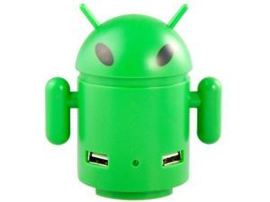 Android Robot Shaped High-speed 4-Port USB2.0 Hub (Green)