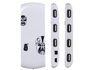 USB 2.0 7 USB Interfaces HUB (White)