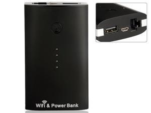 5000 mAh Wi-Fi Mobile Power & Wireless Router (Black)