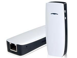 5-in-1 150Mbps Wireless USB Flash Drive, Mobile Charger, 3G Router, DLNA Media & RJ45 Ethernet (White)