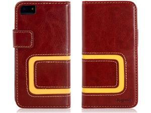 Joyroom Faux Leather Handmade Protective Case for iPhone 5/5s (Brown)