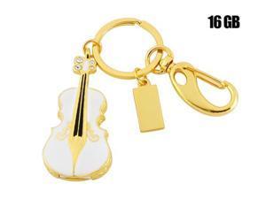 Violin Shaped 16GB USB Flash Drive Keychain