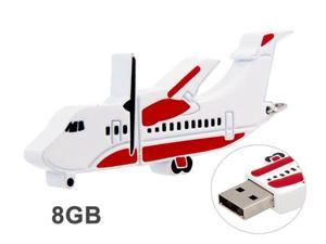 Airplane Model Design 8GB USB Flash Drive (Red & White)