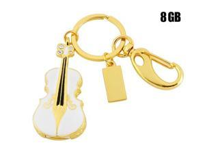 Violin Shaped 8GB USB Flash Drive Keychain