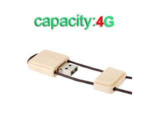 4GB Wooden Mini Card Shaped High Speed USB2.0  Flash Drive