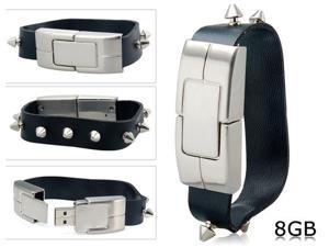 8 GB Stylish Wristband USB Flash Drive (Black)