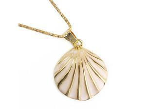 16GB Sea Shell Style USB Flash Drive Necklace (Gold)