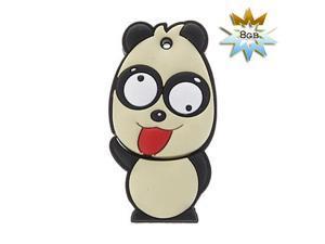 8GB Panda Style USB Flash Drive (White)