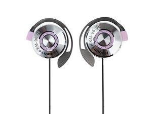 Kanen Stereo Clip-on Earphones with Microphone and Volume Control (Purple)