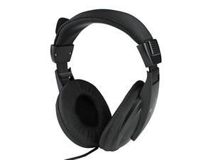 Kanen Stereo Noise-Cancelling Large Size Ear Pads Headphone with Microphone and Volume Control (Black)