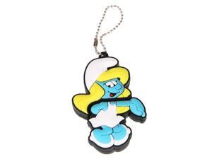 8GB The Smurfs USB Flash Drive Blue + Black