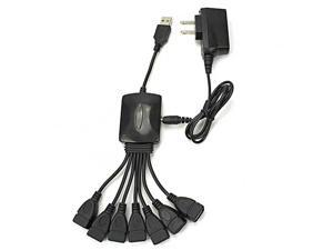 7-Port High Speed Cable Style USB 2.0 Hub Powered with AC Adapter