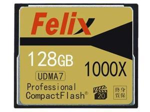 Felix  Media 128GB Professional 1000x CompactFlash Card