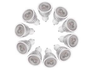 10 GU10 Warm White 3 LEDs Dimmable Office Spot Light Lamp Bulb High Power 6W