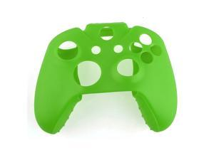 Soft Silicone Gel Protective Skin Cover Case for XBOX ONE Controller Green